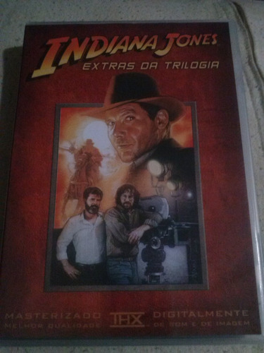 indiana jones dvds trilogia + extras