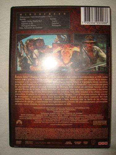 indiana jones templo pedicion wide dvd original en caballito