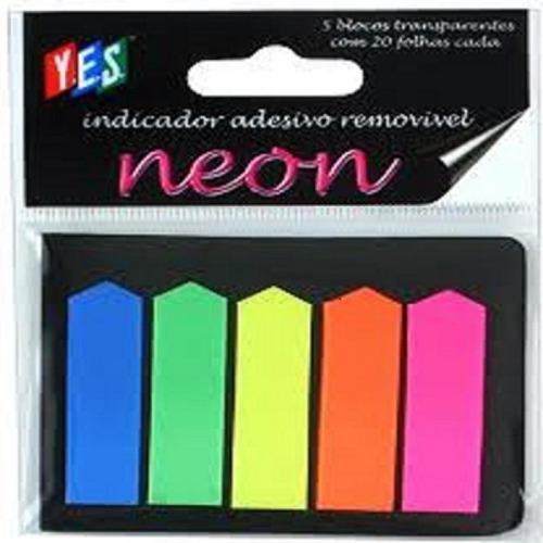 indicador adesivo facíl seta cores neon 100 unidades 45513d