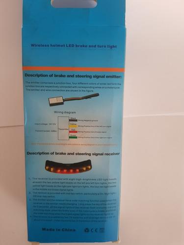 indicador de direccional y freno para casco