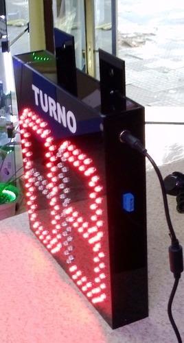indicador de turno led con numero de puesto caja.