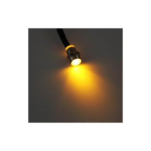 indicador led de 4 piezas piloto dash light, 12v 8mm luces p