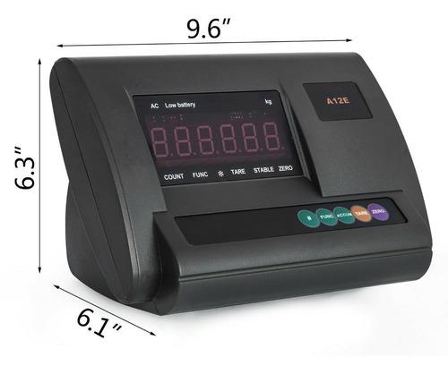 indicador o display a12 con puerto rs232c para balanzas