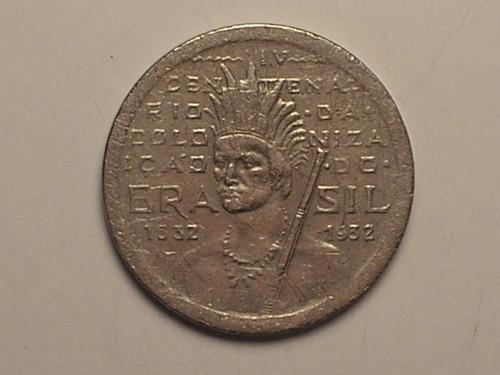 indio c/ círculo no rosto) 100 rs. - 1932 (catalogada) / c07