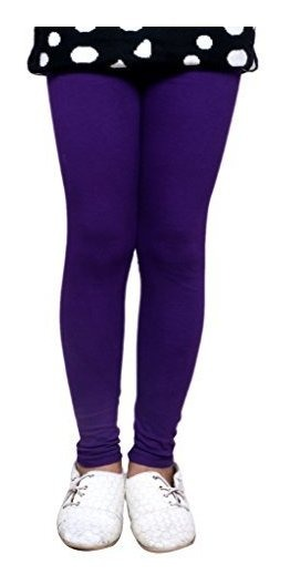 Indistar Little Girls Cotton Full Ankle Length Solid Leggings Pack of 6 -Multiple Colors-4-5 Years