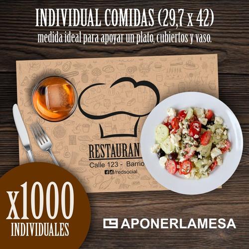 individual descartable personalizado comidas x 1000
