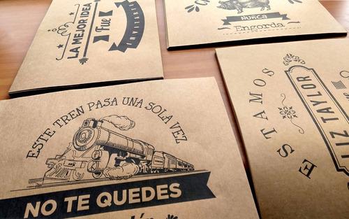 individual para restaurant en papel kraft