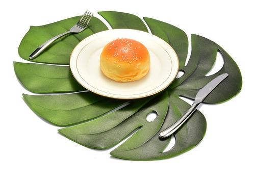 individuales de hojas tropicales en silicona reutilizable !!