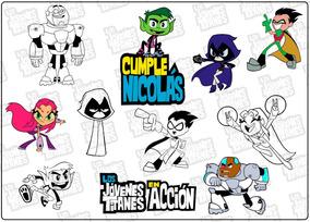 Individuales Jovenes Titanes Personalizados Para Colorear