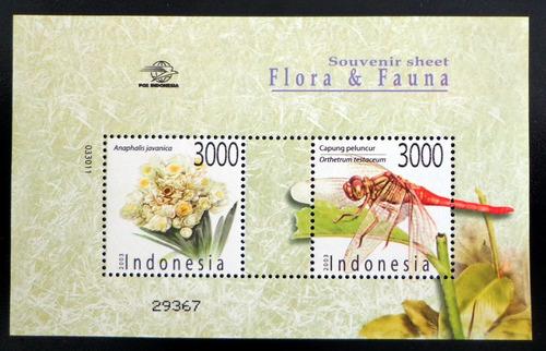 indonesia flora fauna, bloque sc. 2052 año 2003 mint l8646