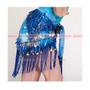 Caderín Para Danza Arabe. Flecos, Monedas, Lentejuelas Laser