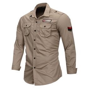 6f18fb7ceb393 Camisa Estilo Militar Hombre - Ropa y Accesorios Piel en Mercado ...