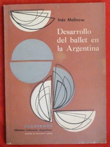 inés malinow desarrollo del ballet en la argentina