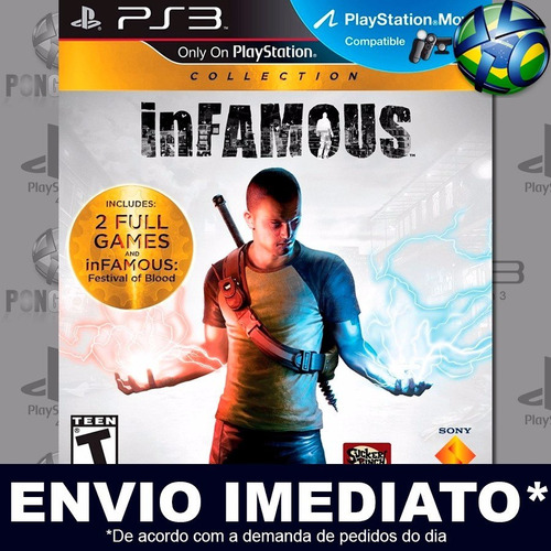 infamous collection 1 2 festival of blood ps3 - envio agora