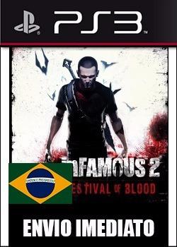 infamous festival of blood portugues ps3 psn - midia digital