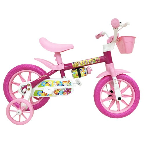 8c884dba8 Infantil Bicicleta Feminina Aro 12 Lilly Ciclo Cairu - R  186