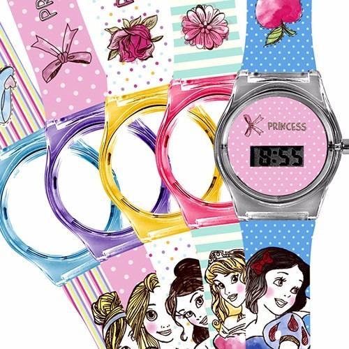 63fd12e3ddd Relógio Infantil Troca Pulseiras Champion Princesas Feminino - R ...