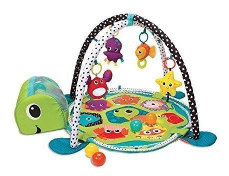 infantino gimnasio tortuga de lujo para niños y bebe