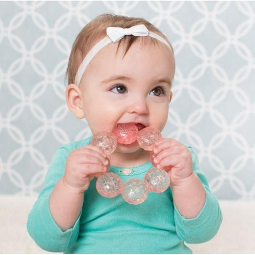 infantino - water teether - mordedor rosa com água