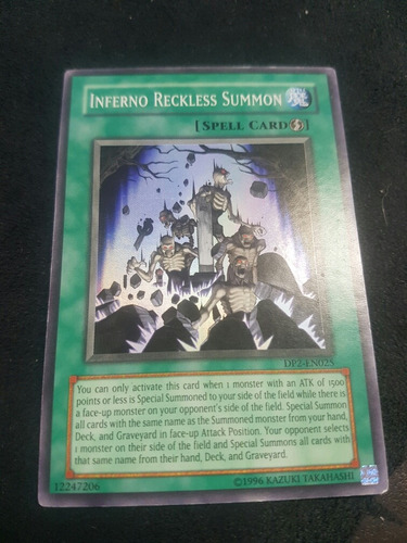 inferno reckless summon.