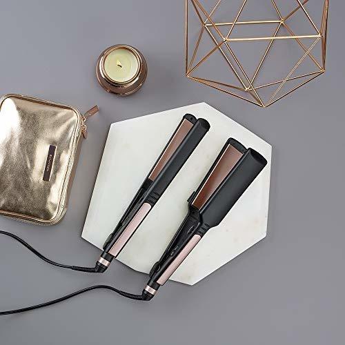 infinitipro by conair plancha plana de cerámica de oro rosa,
