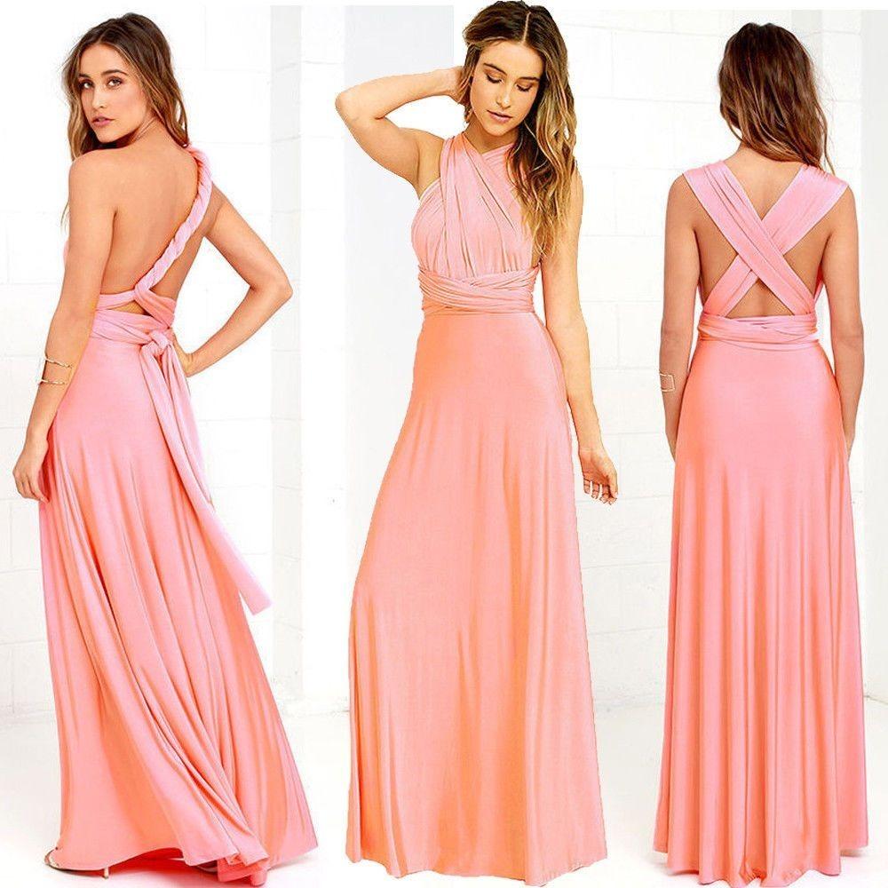 Infinity Dress Vestido Multiforma De Moda Para Fiesta Y Boda