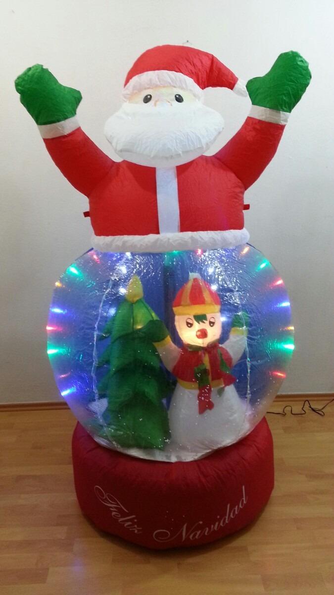 Inflable arbol navidad esfera nieve navide o luz led santa - Arbol navidad nieve ...