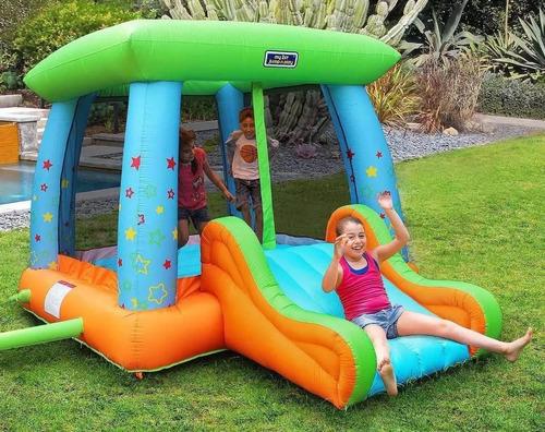 inflable brincolin con resbaladilla canasta sportpower 3.65m