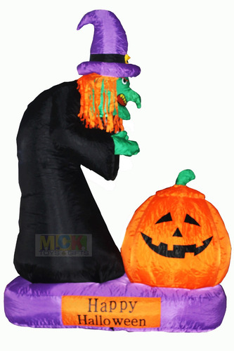 inflable bruja calabaza fantasma halloween fiesta disfraz *
