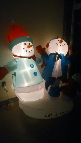 inflable de navidad monos de nieve