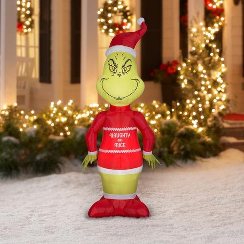 inflable del grinch navideño de 1,67 metros con luz!