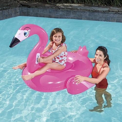 inflable flotador pileta flamenco  bestway pc 41103 1,35 m