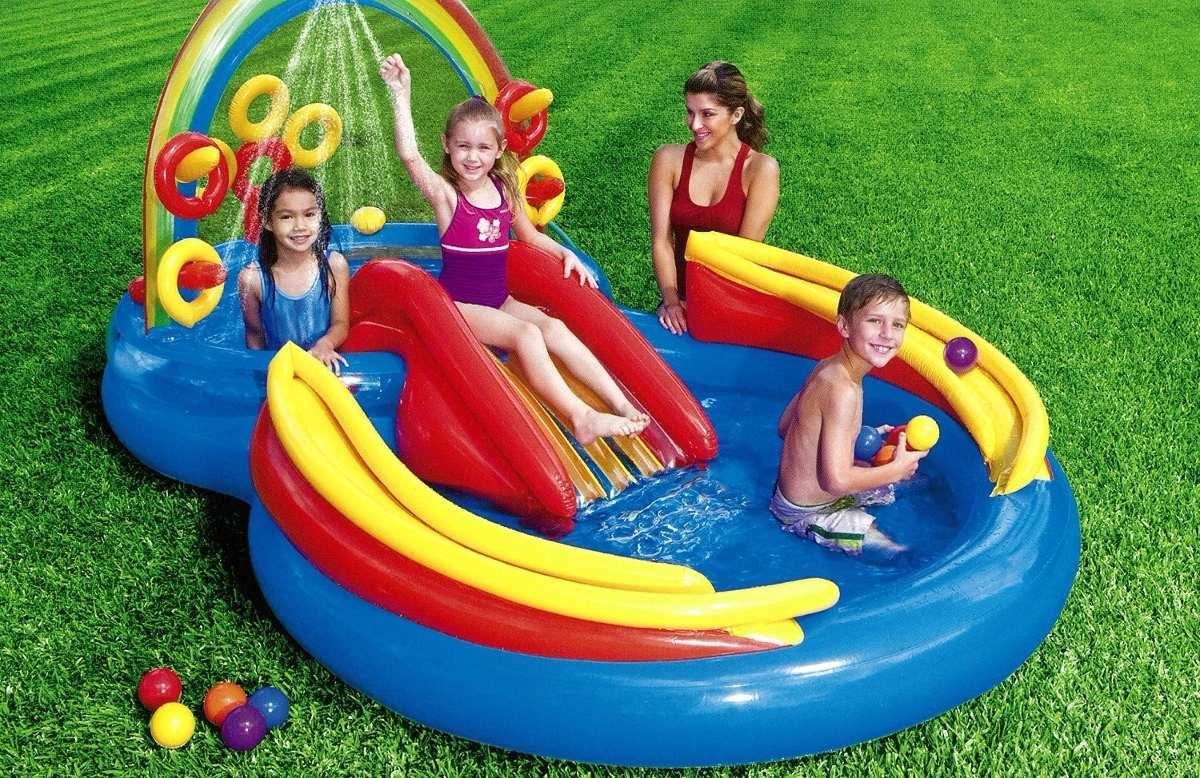 Alberca inflable piscina resbaladilla area de juego agua 1 en mercado libre - Piscinas para bebes ...