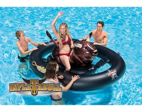 inflable montable toro rodeo inflatabull para piscina intex
