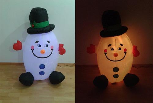 inflable navidad copo de nieve óvalo navideño luz led barato