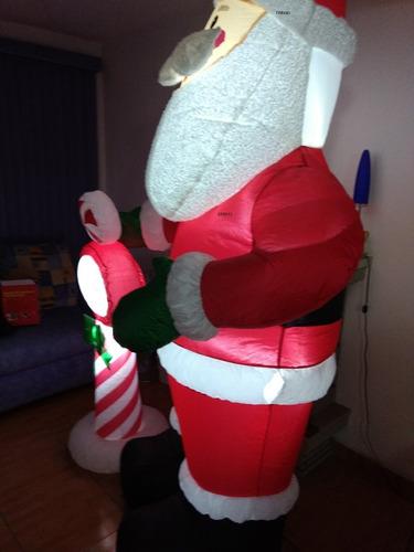 inflable navideño de santa claus 2.40 cms