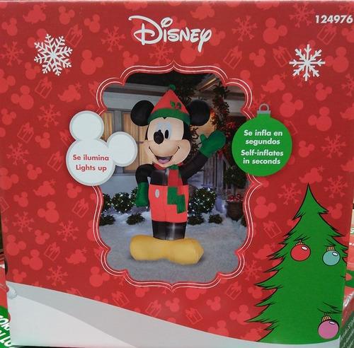 inflable navideño mickey mouse con luz 2.4 mtrs envío gratis