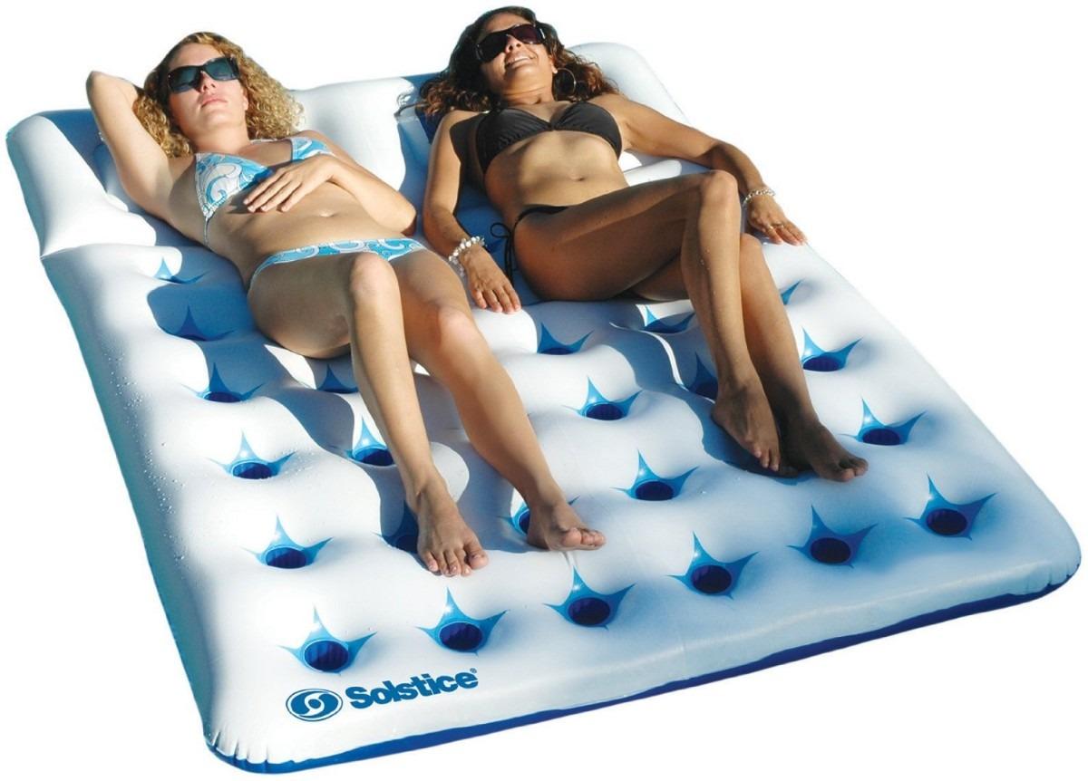 Cama inflable para alberca piscina 2 personas vbf for Alberca para 8 personas