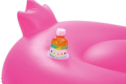 inflable para pileta flamenco grande para adultos color rosa