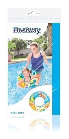 inflable pileta salvavidas niños buddies 56cm bestway 36013
