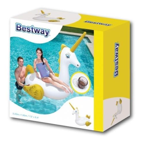 inflable pileta unicornio grande salvavidas bestway 41107