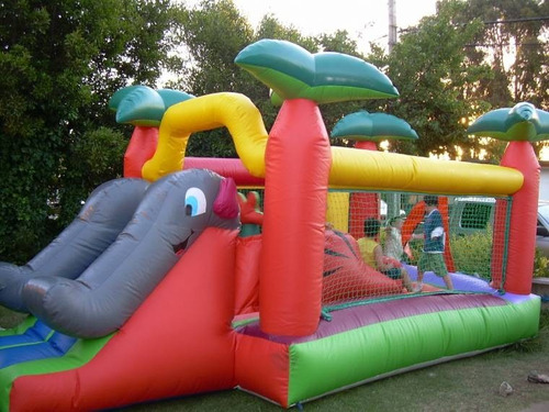 inflable saltarin para niños con motor modelo elefante