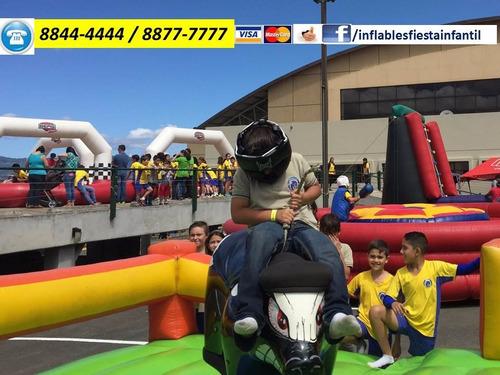 inflable toro trampolin granizado palomitas algodon payaso