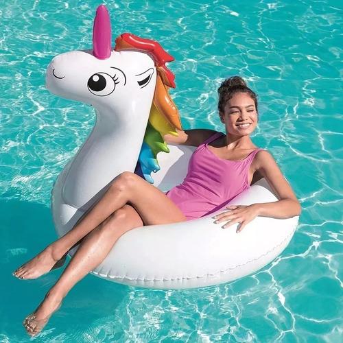 inflable unicornio salvavidas bestway 136 x 131cm 36123 full