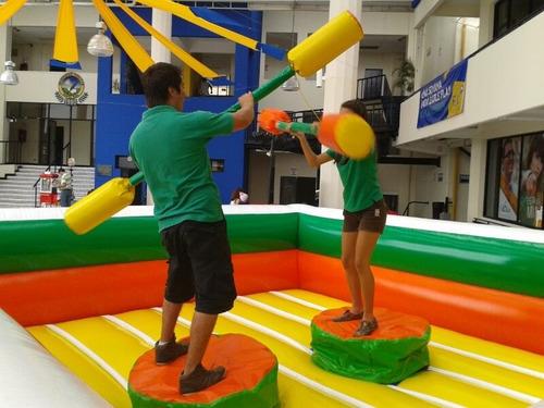 inflables adultos y niños, gladiador, rin box, water ball