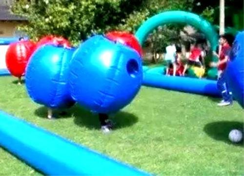 inflables chocadores niños bumper ball futbol barriles