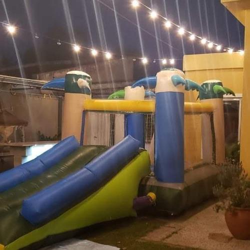 inflables c/tobogan,metegol,tejos,cama elástica y plaza blan