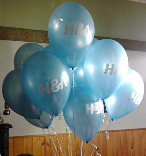 inflado con helio de globos perlados profesionales por 1 u.