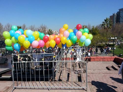 inflado de globos con helio