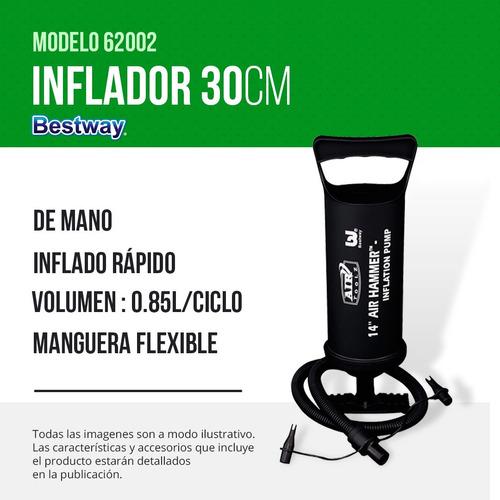 inflador bestway doble accion 30cm 3 picos 62002 pc